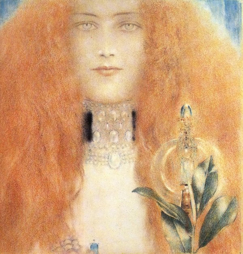 A Woman's Head by Fernand Khnopff