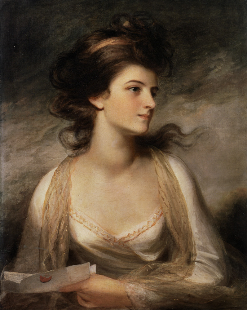 Portrait Ofa Girl 14 Years In Nature Stock Image: Portrait Of A Lady By John Hoppner