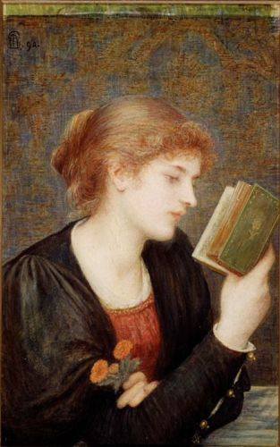 Painting by Marie Spartali Stillman