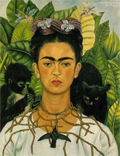 Self-Portrait with Thorn Necklace and Hummingbird by Frida Kahlo